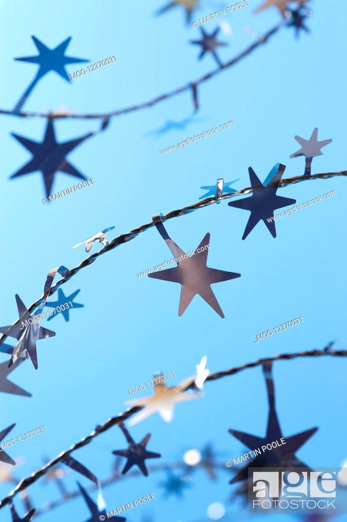 Stock Photo: Christmas star decorations.