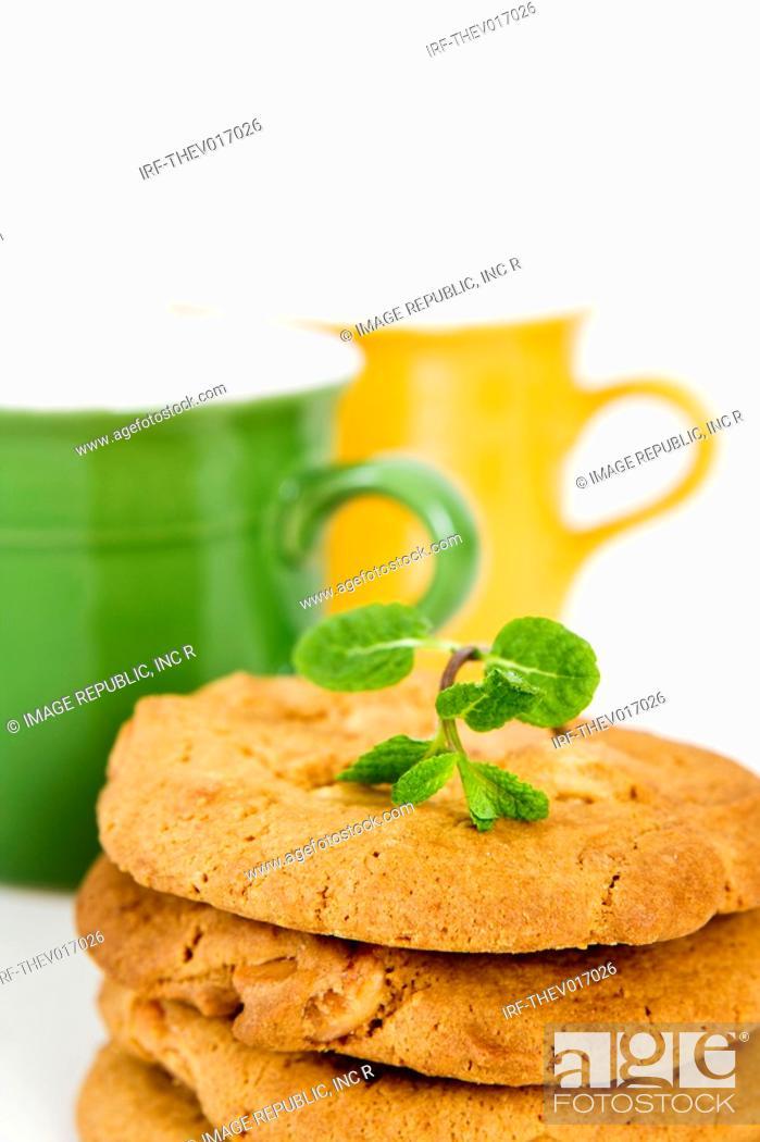 Stock Photo: cookies and mug.