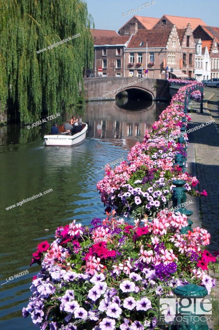 Stock Photo: Ghent, East Flanders, Belgium.