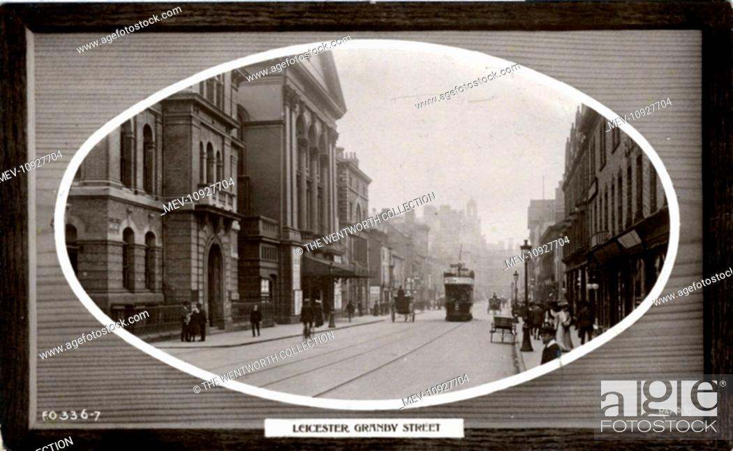 Stock Photo: Granby Street, Leicester, Leicestershire ?, England.