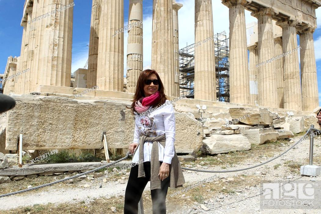 Imagen: Former Argentine president Cristina Fernandez de Kirchner visits Acropolis. Cristina Fernandez de Kirchner is in Athens invited by the governing SYRIZA party.
