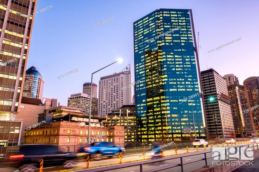 Stock Photo: traffic on Cahill Expressway, Sydney.