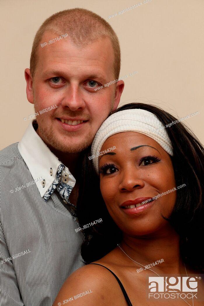 Stock Photo: A couple Black woman and white man.