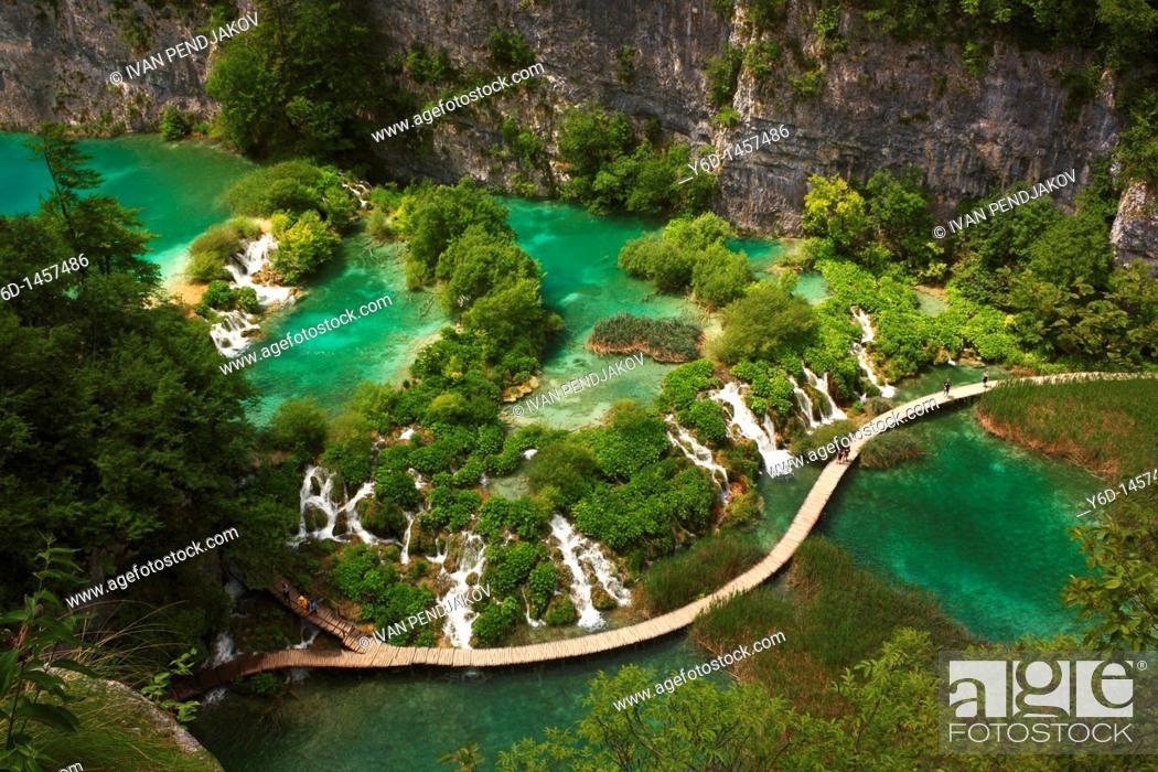 Stock Photo: Plitvice Lakes National Park, Croatia.