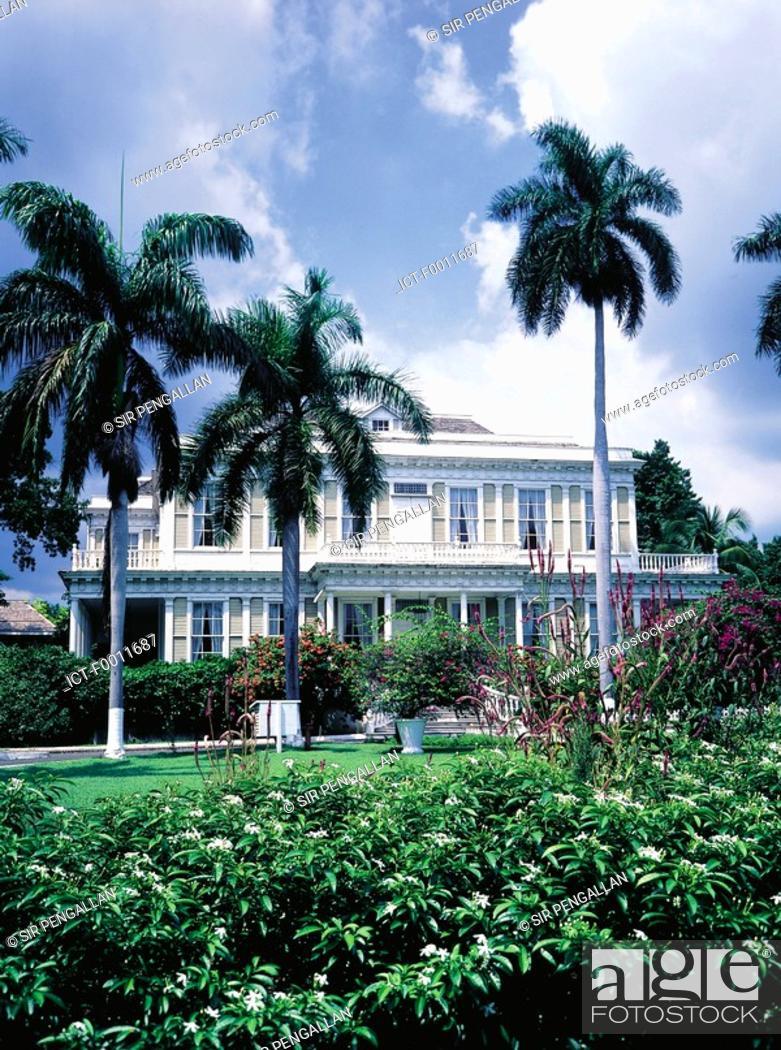 Stock Photo: Jamaica, Kingston, Devon house.