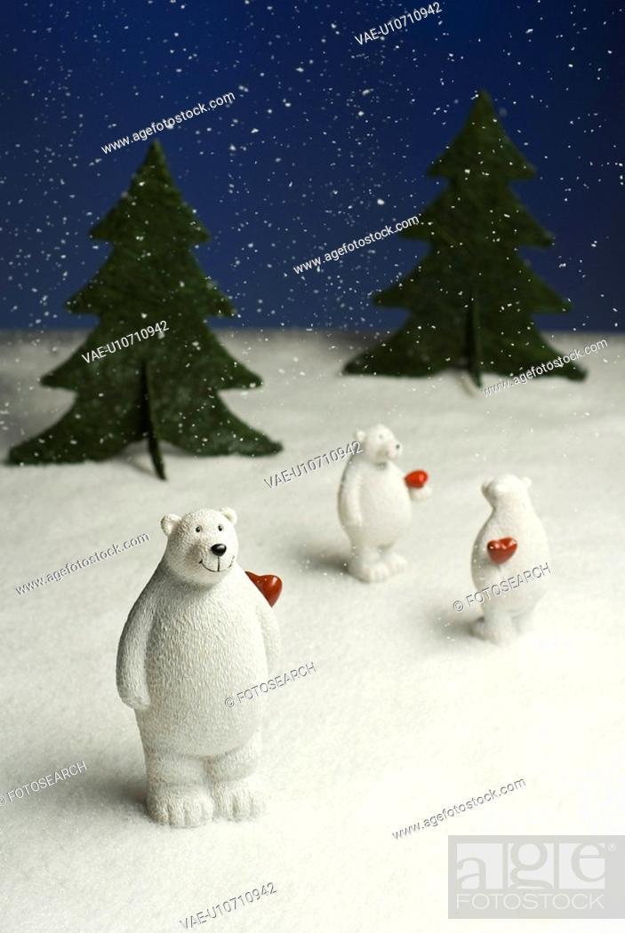 Stock Photo: fest, advent, bear, blue, Christian child, Christmas.