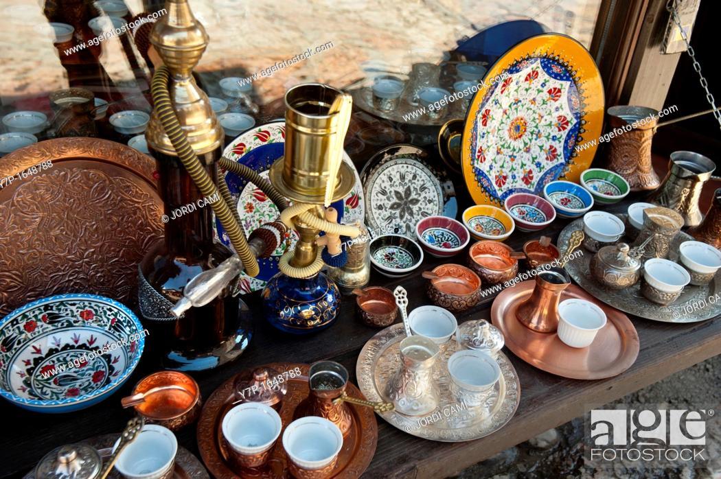 Stock Photo: Bascarsija bazaar, Sarajevo Bosnia- Herzegovina  Balkans Europe.