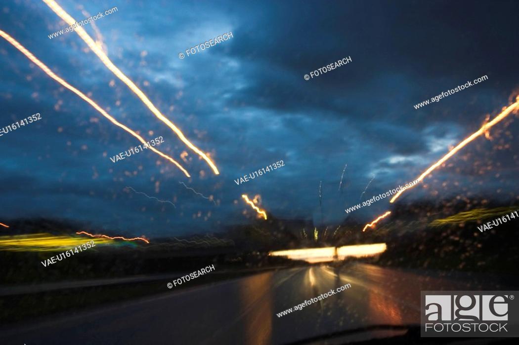 Stock Photo: Close-Up, Clouds, Dark, Glow.