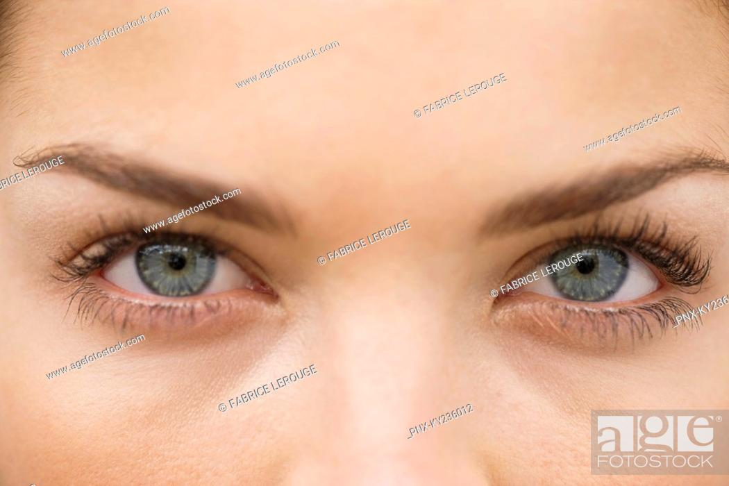 Stock Photo: Close-up of a woman's eyes.