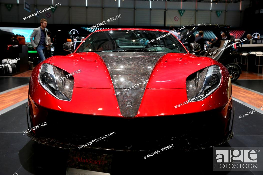 The Cars Of The Geneva International Motor Show Featuring Mansory Stallone Ferrari 812 Superfast Stock Photo Picture And Rights Managed Image Pic Wen 33897900 Agefotostock
