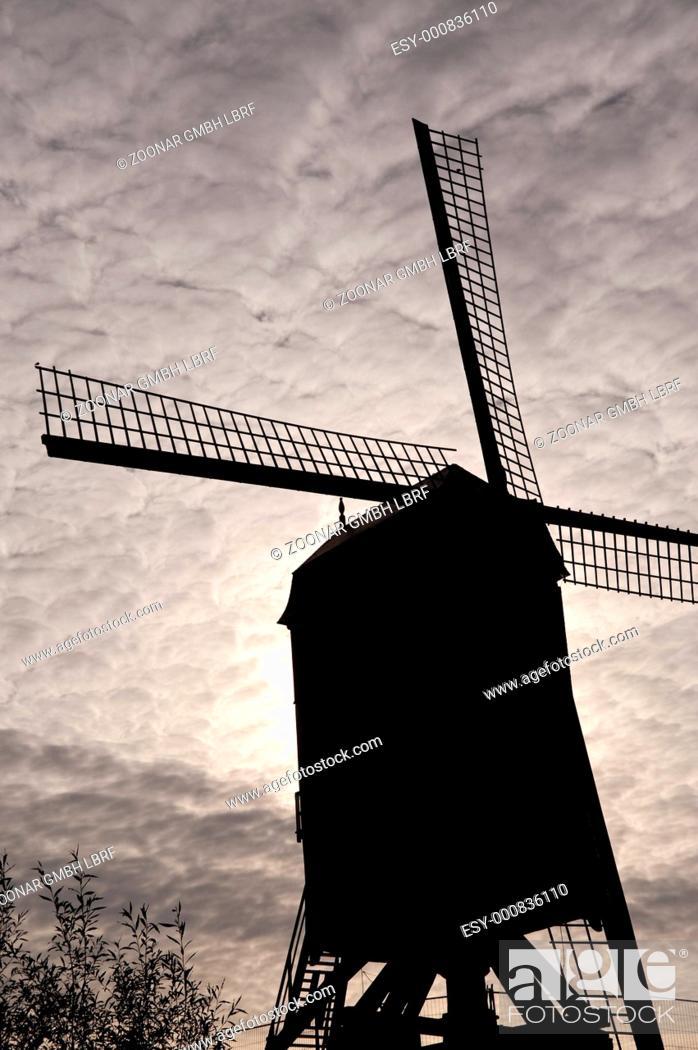 Stock Photo: wind mill.