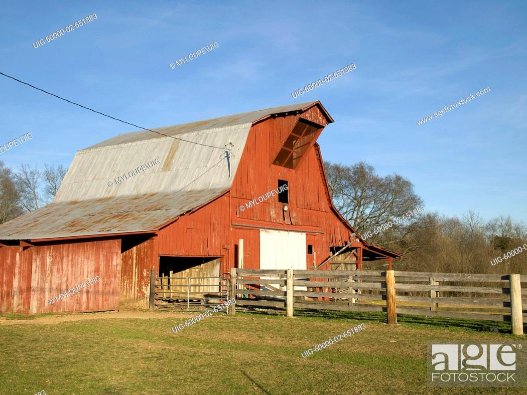 Stock Photo: Red Barn.