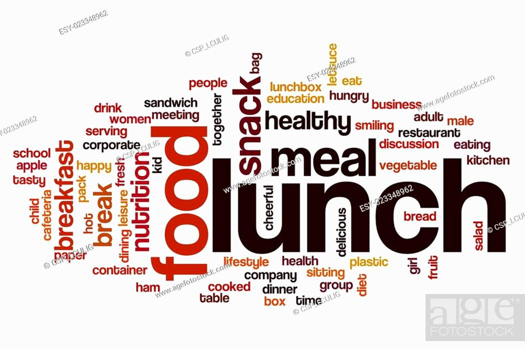 Stock Photo: Lunch word cloud concept.