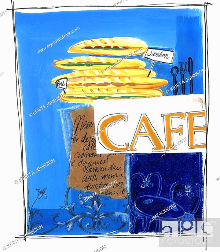 Stock Photo: caf panini.
