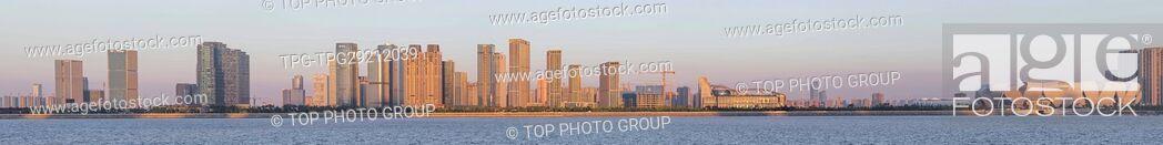 Stock Photo: Panoramic view of Qianjiang Century City;Hangzhou;China.