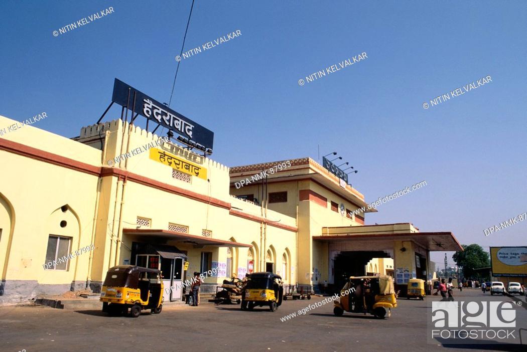 Stock Photo: Hyderabad railway station , Andhra Pradesh , India.