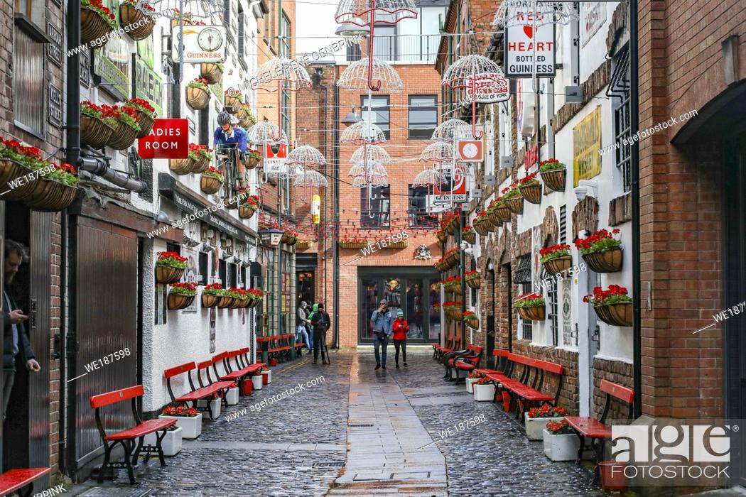 Stock Photo: Commercial Court, Cathedral Quarter, Belfast, Northern Ireland.