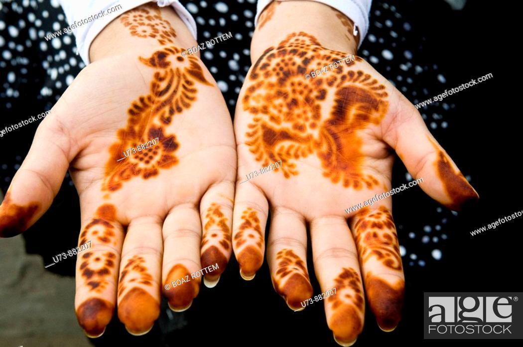 Stock Photo: Henna art.