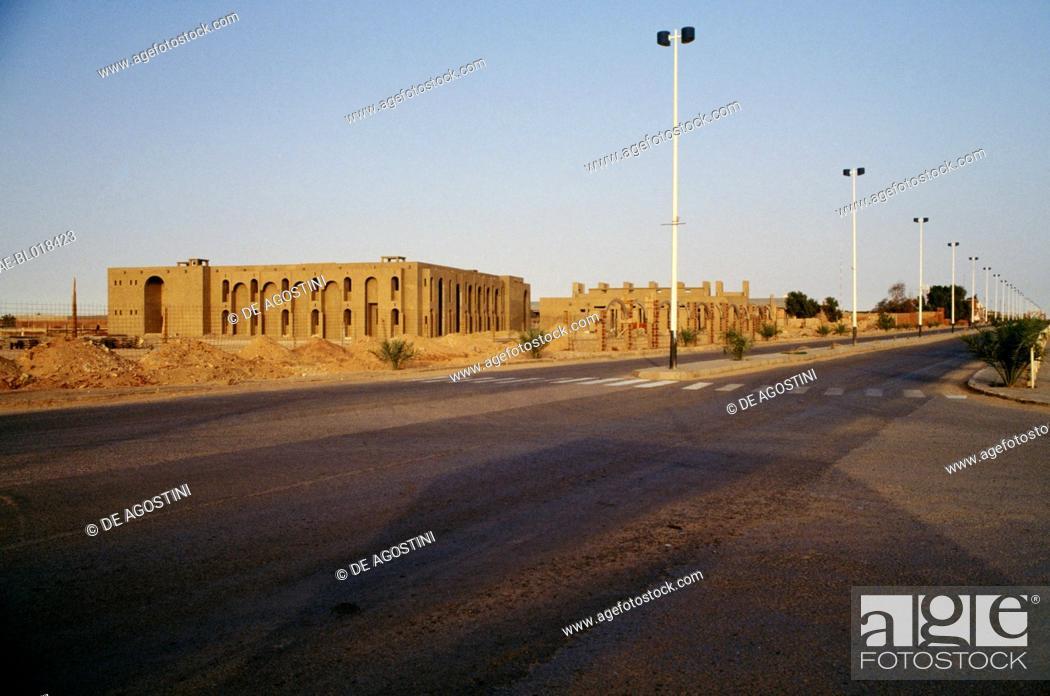 Stock Photo: Buildings under construction near Adrar, Algeria.