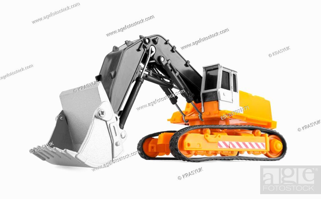 Stock Photo: Bulldozer isolated on white background. Model.