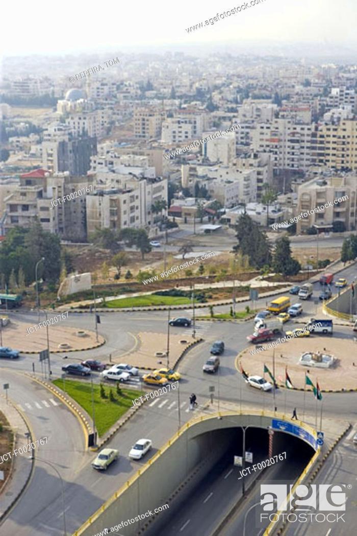 Stock Photo: Jordan, Amman, overview of the city.
