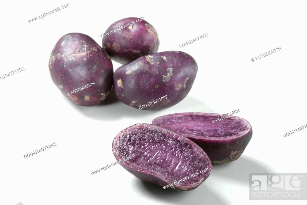 Stock Photo: Purple Potato.