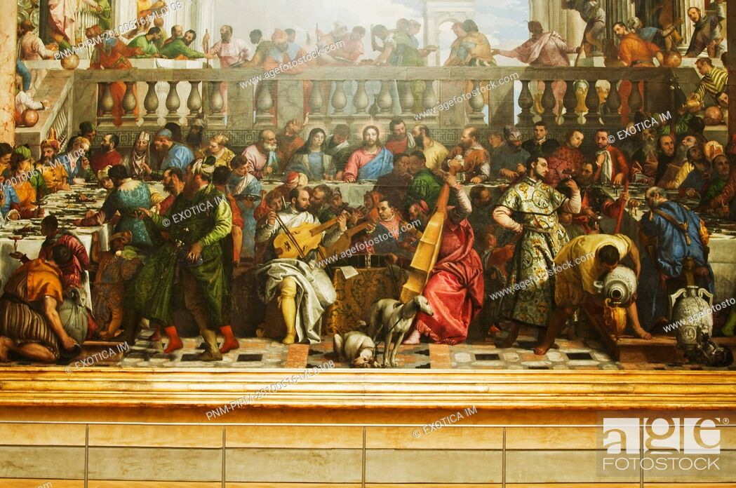 Imagen: Painting The Last Supper in a museum, Musee Du Louvre, Paris, France.