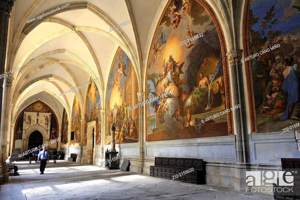 Stock Photo: The Primate Cathedral of Saint Mary, Gothic, XIII-XV centuries, cloister, Toledo, Spain.