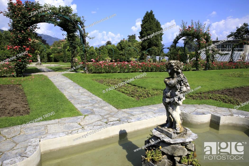 Stock Photo: Villa Pallavicino, Stresa, Verbano-Cusio-Ossola, Piedmont, Italy.