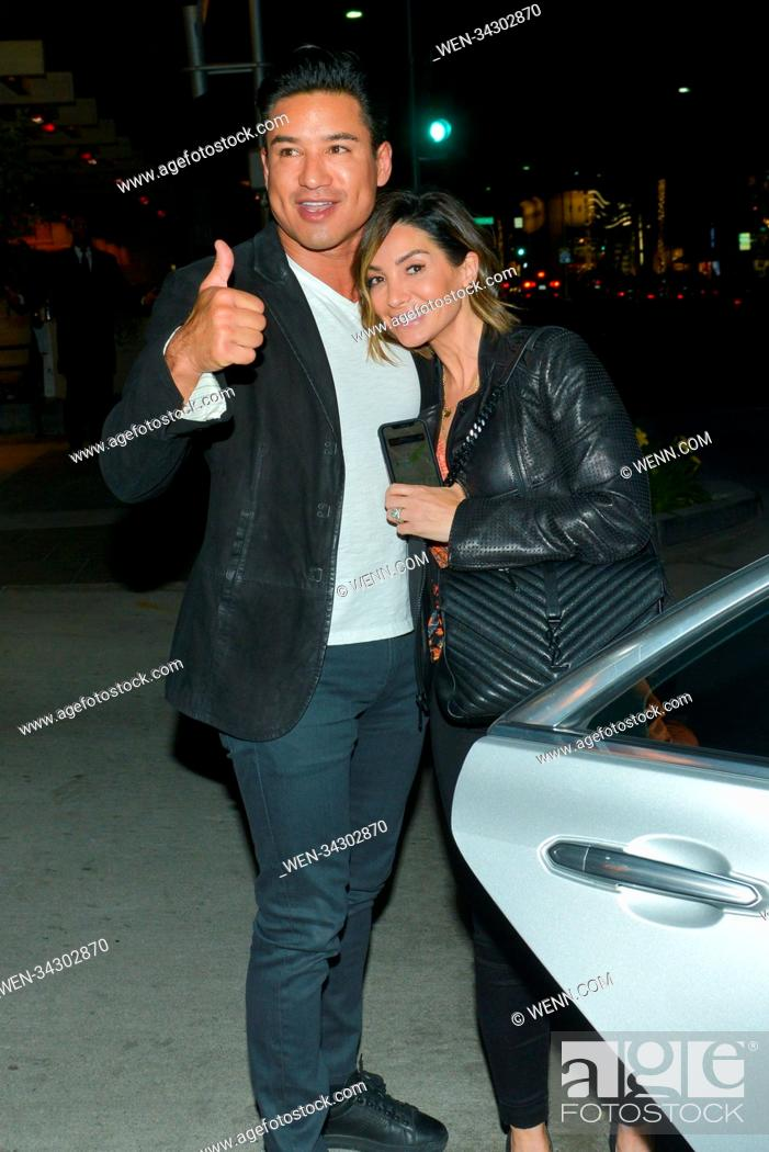 Mario Lopez And His Wife Courtney Laine Mazza Out On A