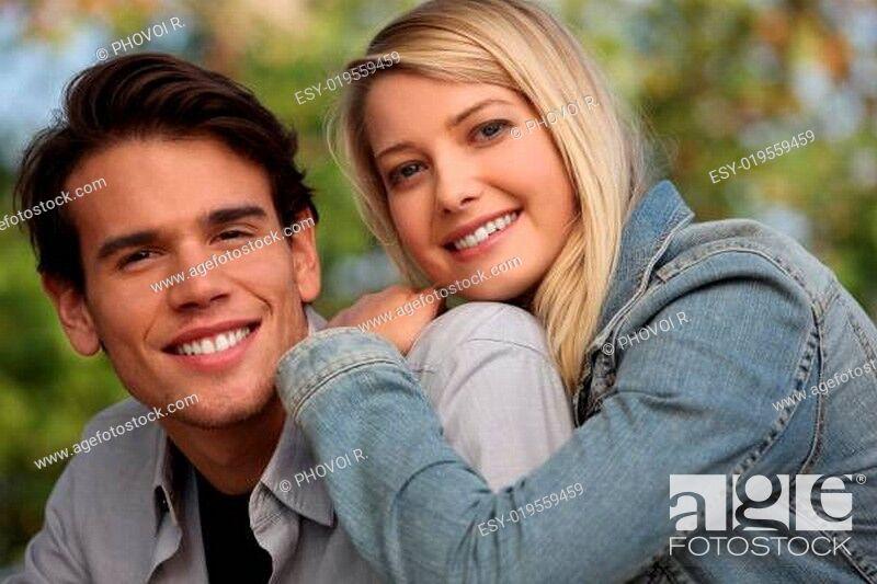 Stock Photo: Happy couple.