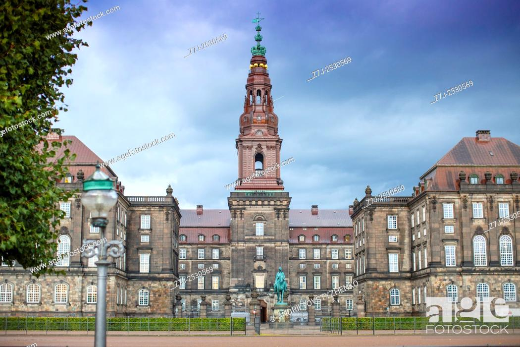 Stock Photo: Christiansborg Palace, Copenhagen.