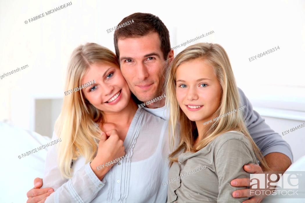 Stock Photo: Family portrait.