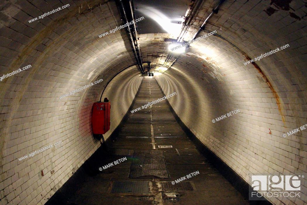Stock Photo: Greenwich Foot Tunnel London.