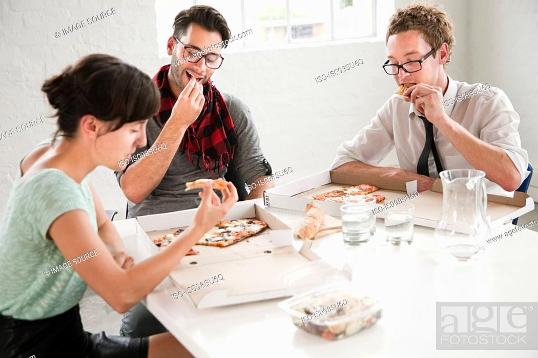 Stock Photo: Fashion designers on lunchbreak.