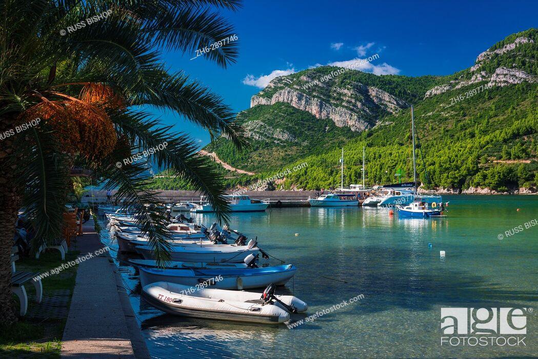 Stock Photo: Boats in the marina, Zuljana, Dalmatia, Croatia.