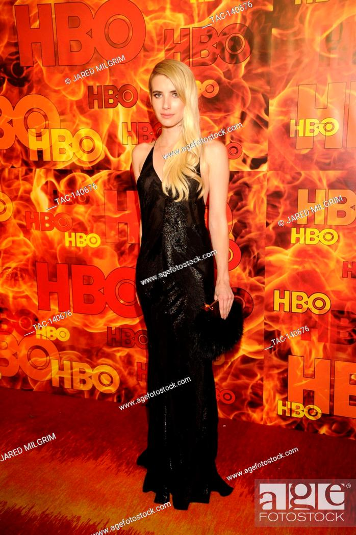 Stock Photo: Emma Roberts attends HBO's 2015 Emmy After Party at the Pacific Design Center on September 20th, 2015 in Los Angeles, California.