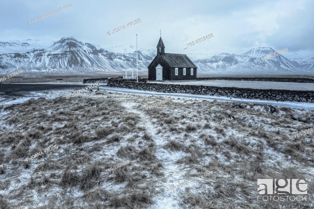 Stock Photo: Budir, Snaefellsnes, Iceland, Europe.