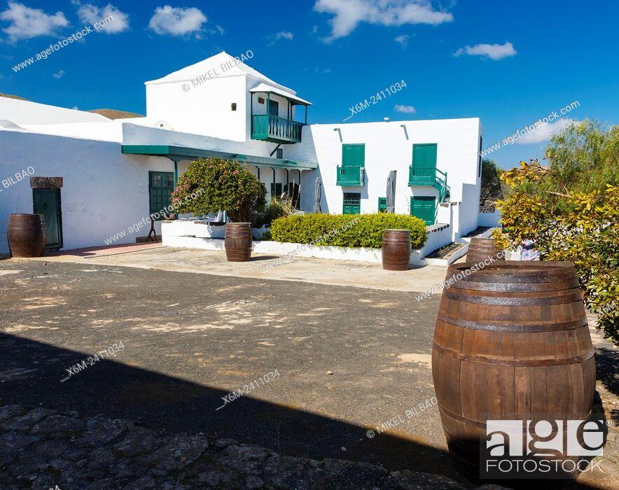 Stock Photo: El Grifo wine cellar. San Bartolome, Lanzarote, Canary Islands, Spain, Europe.