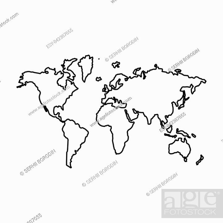 Vector: World map.