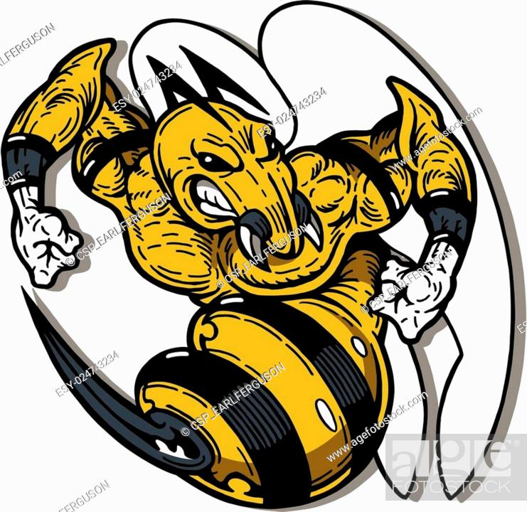 Hornet Mascot Stock Vector Vector And Low Budget Royalty Free