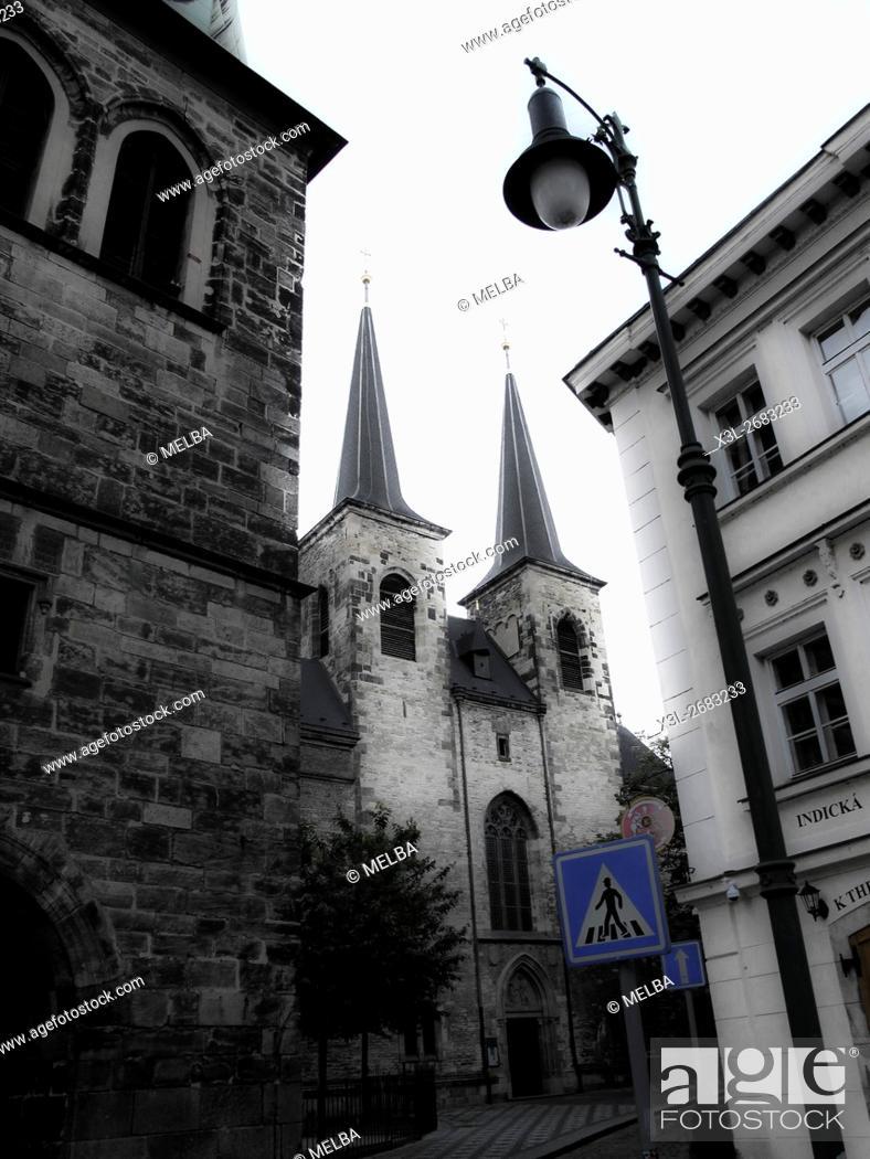 Stock Photo: Street scene. Prague. Czech Republic.