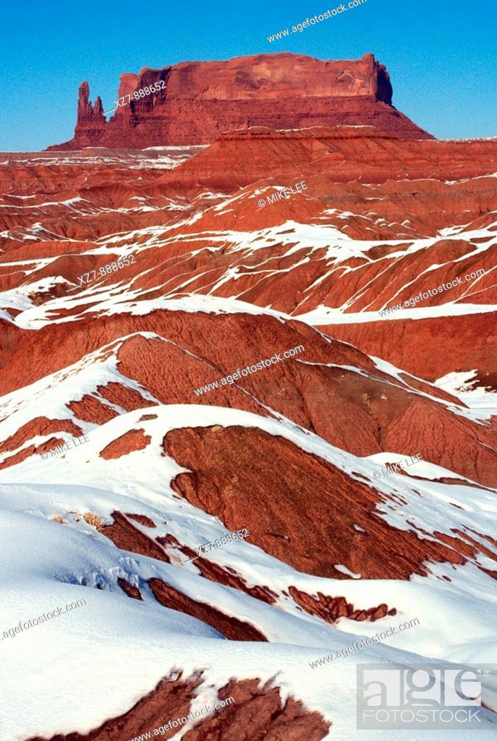 Stock Photo: Desolate landscape in northern New Mexico, USA.