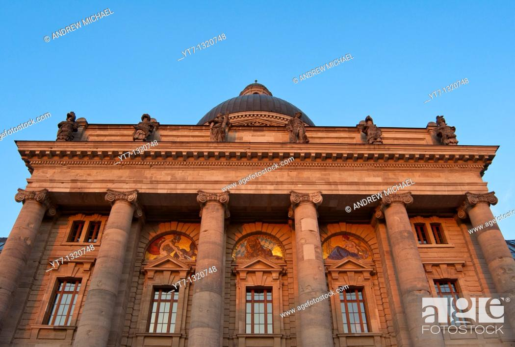 Stock Photo: Bavarian State Chancellery in Munich, Germany.