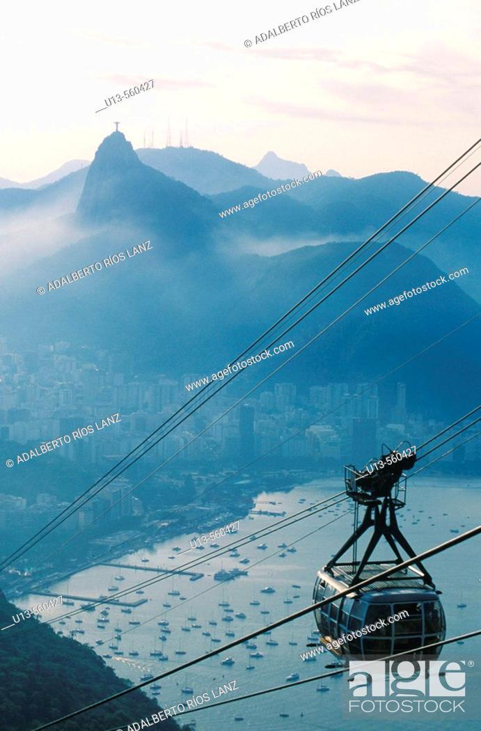 Stock Photo: Cableway, Rio de Janeiro,  Brazil.