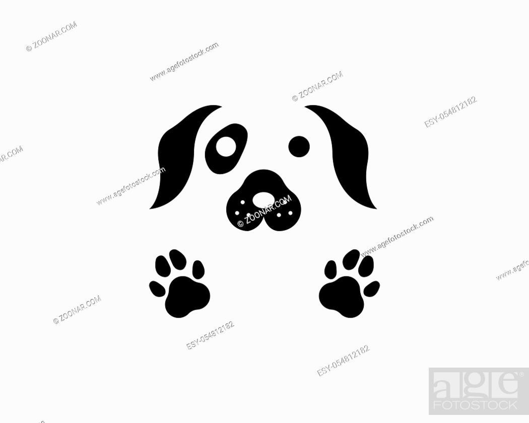 Imagen: dog logo icon vector template design.