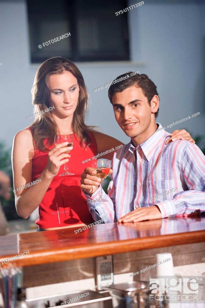 Stock Photo: Couple in a bar.