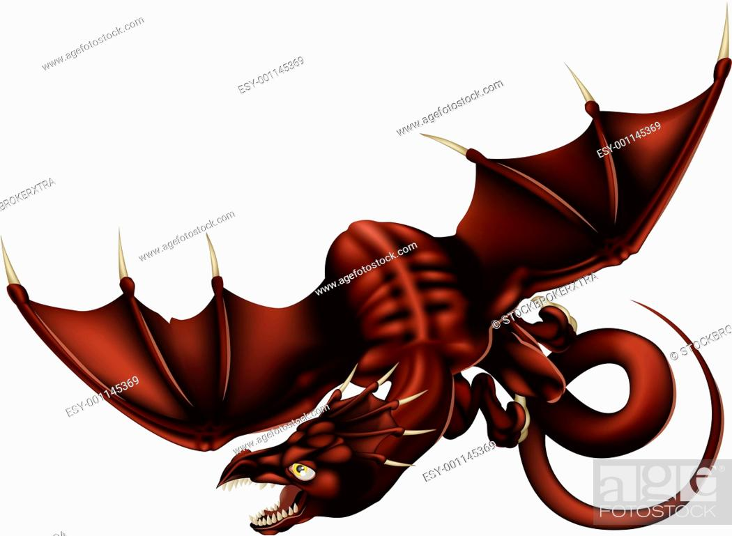 Stock Photo: Dragon Vector Illustration.