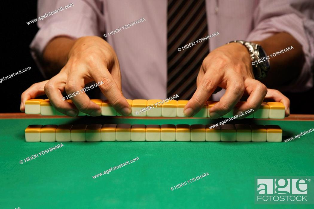 Stock Photo: Mahjong players.