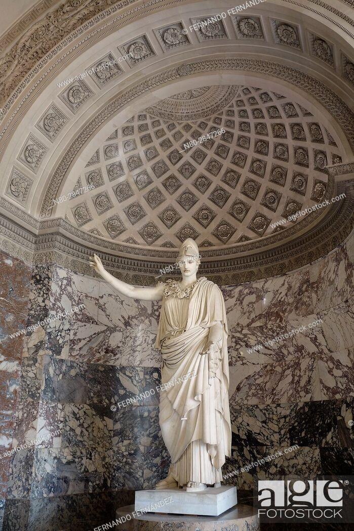 Stock Photo: La Pallas De Velletri. Athena. Louvre Museum. Paris. France. Europe.